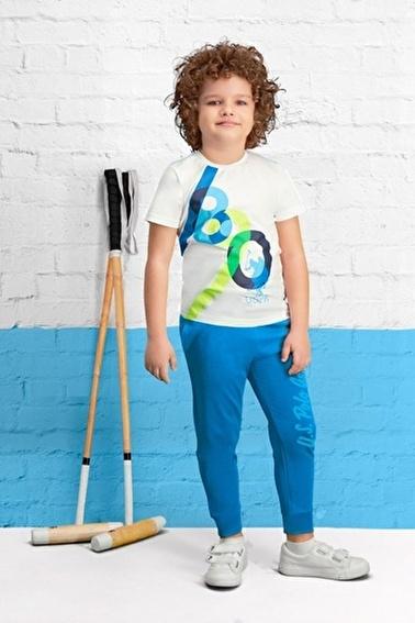 U.S. Polo Assn. Lisanslı Erkek Çocuk Pijama Takımı Krem